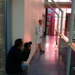 Photoshoot at the Norwegian hospital, Rikshospitalet - quite embarrasing.. :)