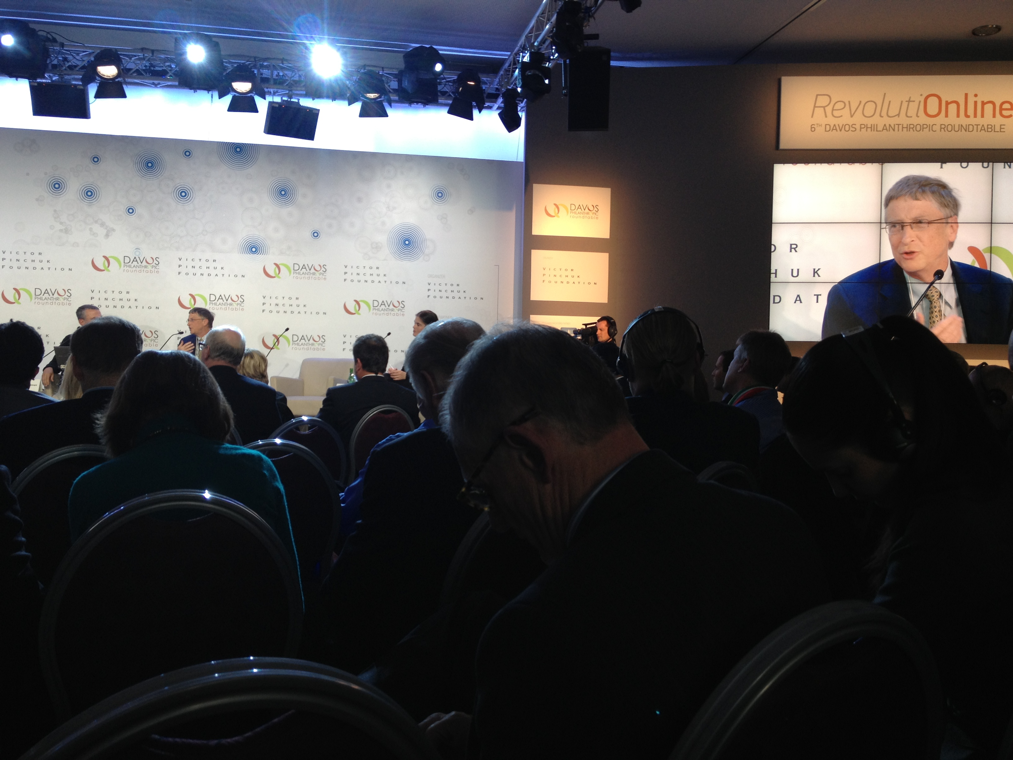 One of many meetings at Davos